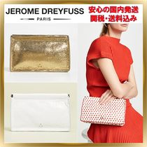 Jerome Dreyfuss Heart Lambskin Plain Party Style Clutches
