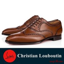 Christian Louboutin Wing Tip Plain Leather Oxfords