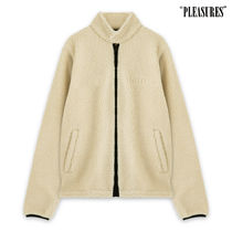 PLEASURES Unisex Street Style Plain Coach Jackets Oversized
