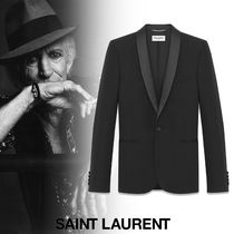 Saint Laurent Short Wool Street Style Plain Blazers Jackets