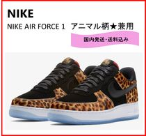 Nike AIR FORCE 1 Leopard Patterns Leather Sneakers