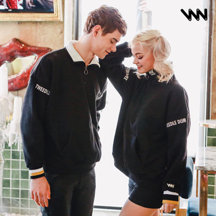 Pullovers Unisex Street Style Long Sleeves Cotton Tops
