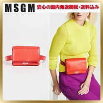 MSGM Casual Style Plain Leather Shoulder Bags