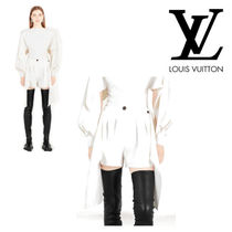 Louis Vuitton Crew Neck Wool Long Sleeves Plain T-Shirts