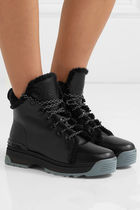 FENDI Leather Ankle & Booties Boots