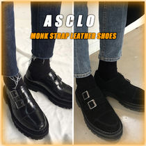 ASCLO Unisex Street Style Plain Leather U Tips Handmade Oxfords