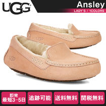UGG Australia ANSLEY Moccasin Casual Style Fur Street Style Plain Flats