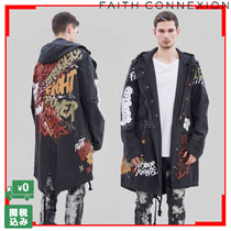 Faith connexion Unisex Street Style Long Parkas