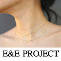 E and E PROJECT Chain Silver 14K Gold Fine