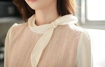 Wool Long Sleeves Medium With Jewels Office Style