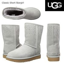 UGG Australia CLASSIC SHORT Star Round Toe Casual Style Sheepskin Plain Boots Boots