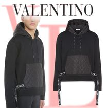 VALENTINO Pullovers Blended Fabrics Long Sleeves Plain Cotton