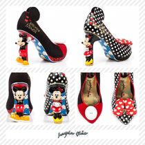 Irregular Choice Dots Casual Style Blended Fabrics Bi-color Leather