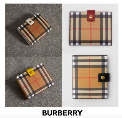 Tartan Leather Folding Wallets