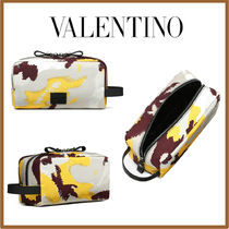 VALENTINO Camouflage Nylon Studded Bold Bags