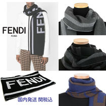 FENDI Unisex Wool Bi-color Scarves