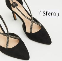 Sfera Plain Pin Heels Elegant Style Heeled Sandals