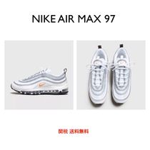 Nike AIR MAX 97 Round Toe Lace-up Casual Style Plain Low-Top Sneakers