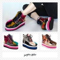 Irregular Choice Zebra Patterns Camouflage Platform Round Toe Lace-up
