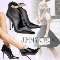 Jimmy Choo Plain Leather Pin Heels Party Style Ankle & Booties Boots