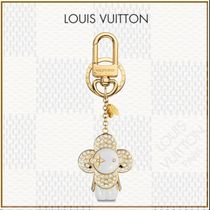 Louis Vuitton Flower Patterns Blended Fabrics Chain Plain With Jewels