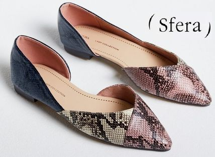 Casual Style Python Slip-On Shoes