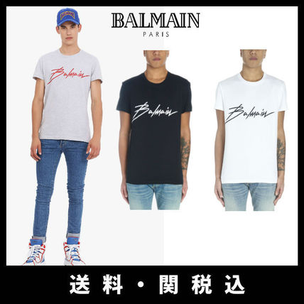 Street Style U-Neck Cotton Short Sleeves T-Shirts