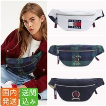Tommy Hilfiger Other Check Patterns Casual Style Unisex Canvas Street Style