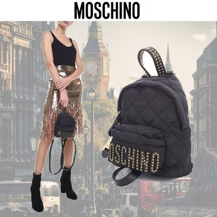 Other Check Patterns Studded Plain Backpacks