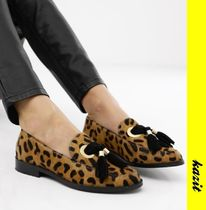 ASOS Leopard Patterns Casual Style Tassel Leather