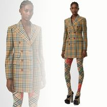 Burberry Other Check Patterns Wool Collaboration Long Elegant Style