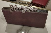 Jimmy Choo Suede 2WAY Chain Plain Party Style Bold Clutches