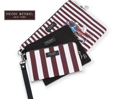 Stripes Nylon Pouches & Cosmetic Bags