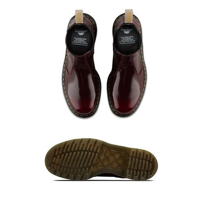 Dr Martens Ankle & Booties Round Toe Unisex Plain Leather Block Heels Chelsea Boots 5