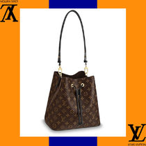 Louis Vuitton Monogram Casual Style Leather Handmade Shoulder Bags