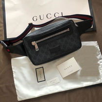 GUCCI 2WAY Plain Leather Hip Packs