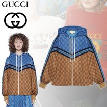 GUCCI Short Casual Style Blended Fabrics Street Style Jackets