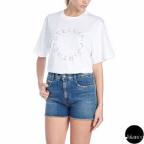 Stella McCartney STELLA LOGO Plain Cotton Medium Short Sleeves T-Shirts