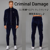 CRIMINAL DAMAGE Velvet Street Style Joggers & Sweatpants