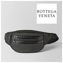 BOTTEGA VENETA Other Check Patterns Canvas Blended Fabrics Plain Hip Packs