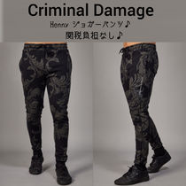 CRIMINAL DAMAGE Stripes Sweat Street Style Joggers & Sweatpants