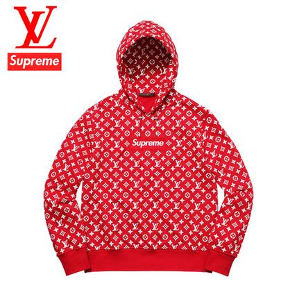 Supreme Hoodies Pullovers Long Sleeves Cotton Hoodies