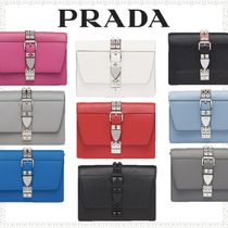 PRADA ELEKTRA Calfskin 2WAY Bi-color Plain Shoulder Bags