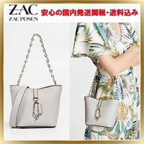 ZAC ZAC POSEN Calfskin 2WAY Chain Plain Elegant Style Shoulder Bags