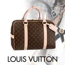 Louis Vuitton CARRY ALL Monogram Canvas Blended Fabrics Street Style A4 Bi-color