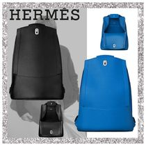 HERMES Calfskin A4 Backpacks