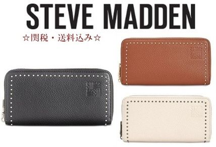 Studded Plain PVC Clothing Long Wallets