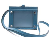 VALENTINO Unisex Plain Leather Wallets & Card Holders