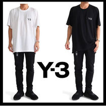 Y-3 Crew Neck Plain Short Sleeves Crew Neck T-Shirts