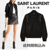 Saint Laurent Wool Plain Elegant Style Jackets
